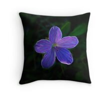 Fractal Light Purple Elegy Throw Pillow