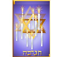 Nine White Candles and Star-large Photographic Print