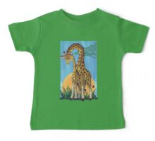 Giraffe Mama and Baby Baby Tee