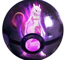 Mewtwo | Pokeball by SALSAMAN