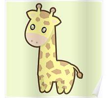 Kawaii Giraffe Poster