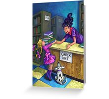 Libary Check Out Greeting Card
