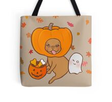 Frenchie in contume for Halloween party Tote Bag