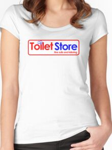 Toilet Store: Fine Suits and Tailoring Women's Fitted Scoop T-Shirt