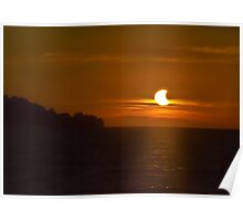 Partial Solar Eclipse Over Lake Erie. Poster