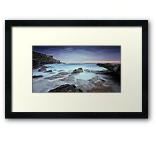 Streaks of Silk Framed Print