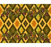 Mac Campbell's Argyle with Acorns, leaves and tartan Photographic Print