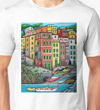 Colours of Riomaggiore, Cinque Terre Unisex T-Shirt