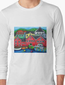 Colours of Lunenburg, Nova Scotia Long Sleeve T-Shirt