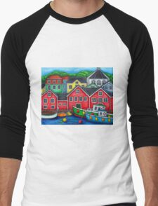 Colours of Lunenburg, Nova Scotia Men's Baseball ¾ T-Shirt