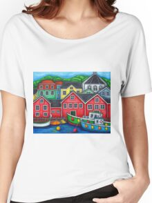 Colours of Lunenburg, Nova Scotia Women's Relaxed Fit T-Shirt