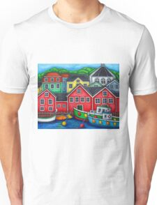 Colours of Lunenburg, Nova Scotia Unisex T-Shirt