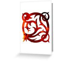 Tribal Space Mashup Greeting Card