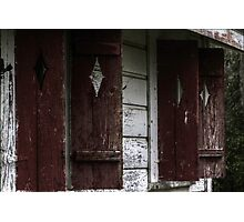 Ghost Town Shutters Photographic Print