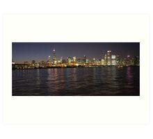 October Pink Chicago Skyline Art Print