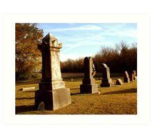 Harris Cemetery Art Print