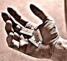 Hands, Razorblades by redhairedgirl