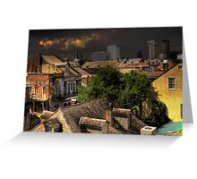 New Orleans HDR City Scape Greeting Card
