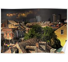 New Orleans HDR City Scape Poster