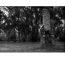 Ghost Town Chimney BW Photographic Print