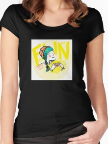 fun-love-sun Women's Fitted Scoop T-Shirt
