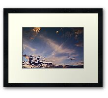 """Flying"" Sunset Framed Print"