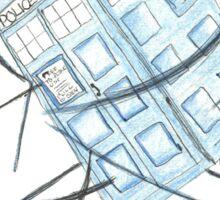 TARDIS in transit Sticker