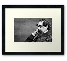 Charles Dickens portrait Framed Print