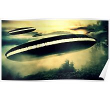 UFO Invasion Force by Raphael Terra Poster