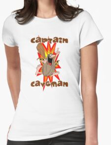Captain Caveman Womens Fitted T-Shirt