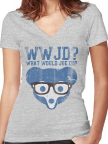 Chicgo What Would Joe Do? Women's Fitted V-Neck T-Shirt