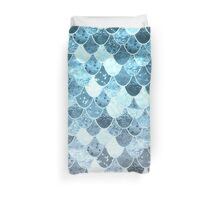 REALLY MERMAID SILVER BLUE Duvet Cover