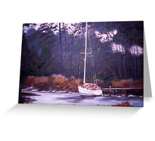 Winter Mooring Greeting Card