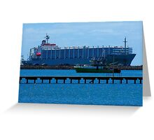 The Big Ship Greeting Card