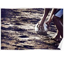 Football stories from the beach - Put the ball Poster