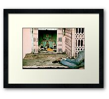 On a Busy Street in Jaipur Framed Print