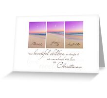 Christmas - Remembering Your Children Greeting Card