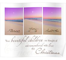 Christmas - Remembering Your Children Poster