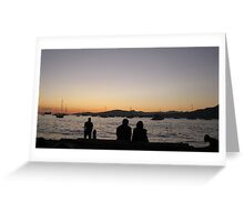 Sunset in English Bay, Vancouver Greeting Card