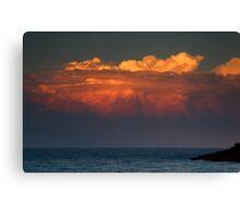 Ocean Sunset Storm Canvas Print