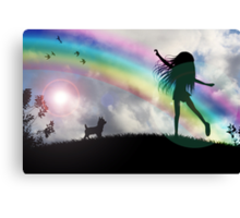 Windy McGee At The End Of The Rainbow. Canvas Print