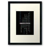 Pop Punk Word Find Framed Print