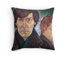 Sherlock and John Throw Pillow