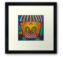Table for Two in Italy Framed Print