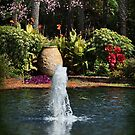 Tropical Garden Fountain by Kathy Baccari