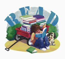 Book Wagon Kids Tee