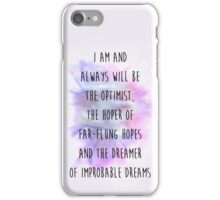 Doctor Who Eleven Optimist Quote iPhone Case/Skin