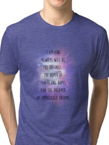 Doctor Who Eleven Optimist Quote Tri-blend T-Shirt