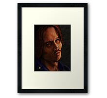 JOHNNY DEPP ! Framed Print