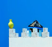 Battlements in Blue II by Damienne Bingham